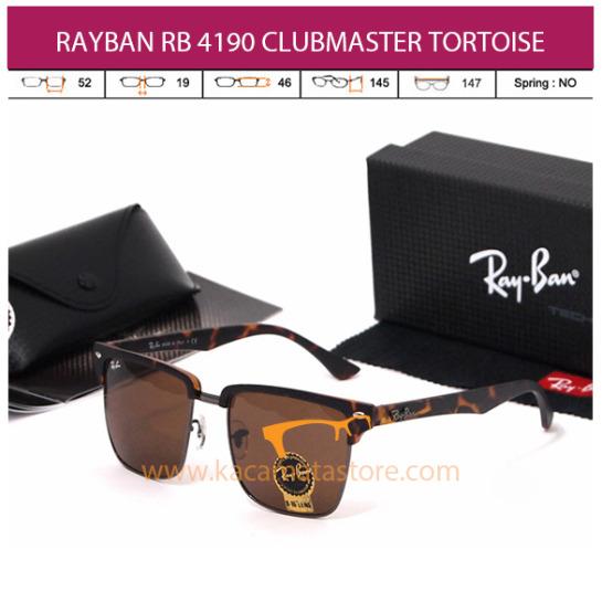 jual kacamata rayban clubmater square rb4190 tortoise