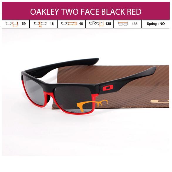 JUAL KACAMATA OAKLEY OAKLEY TWO FACE BLACK RED
