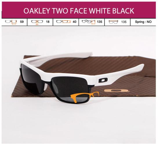 JUAL KACAMATA ONLINE OAKLEY TWO FACE WHITE BLACK