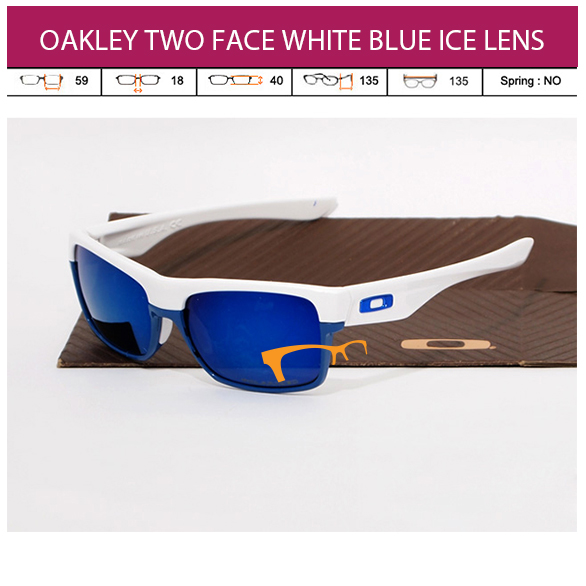 JUAL KACAMATA ONLINE OAKLEY TWO FACE WHITE BLUE ICE LENS