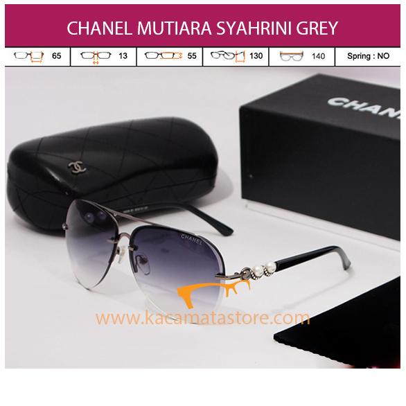 kacamata chanel syahrini mutiara grey