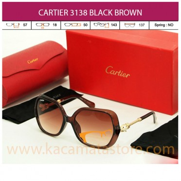 CARTIER 3138 BLACK BROWN