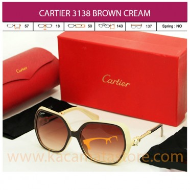 CARTIER 3138 BROWN CREAM