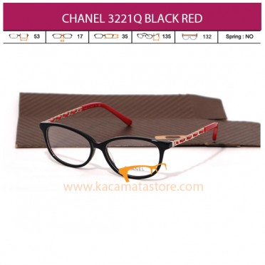 CHANEL CH3221Q BLACK RED