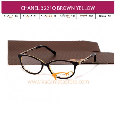CHANEL CH3221Q BROWN YELLOW