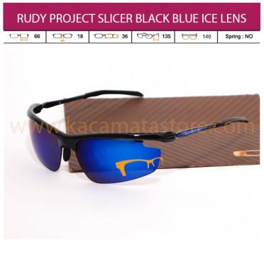 RUDY PROJECT SLICER BLACK BLUE ICE LENS