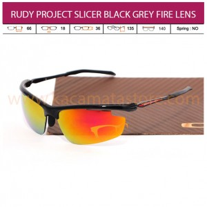 RUDY PROJECT SLICER BLACK GREY FIRE LENS
