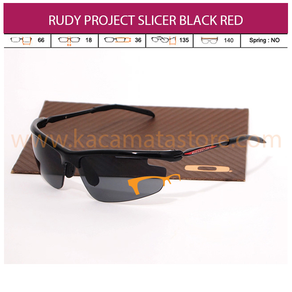 RUDY PROJECT SLICER BLACK RED