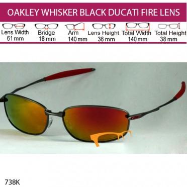 OAKLEY WHISKER BLACK DUCATI FIRE LENS