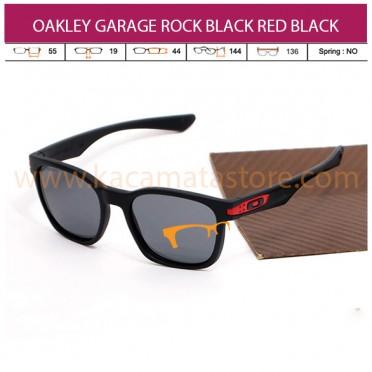 OAKLEY GARAGE ROCK BLACK RED BLACK LENS