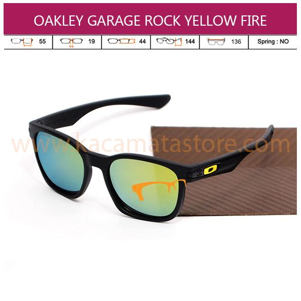 OAKLEY GARAGE ROCK YELLOW FIRE LENS