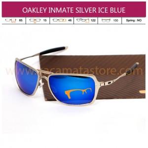 OAKLEY INMATE SILVER ICE BLUE (GRADE AAA)