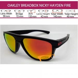OAKLEY BREADBOX NICKY HAYDEN BLACK DUCATI FIRE LENS