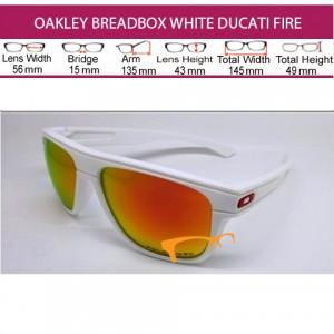 OAKLEY BREADBOX WHITE DUCATI FIRE LENS