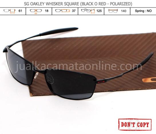 jual kacamata oakley whisker squared black