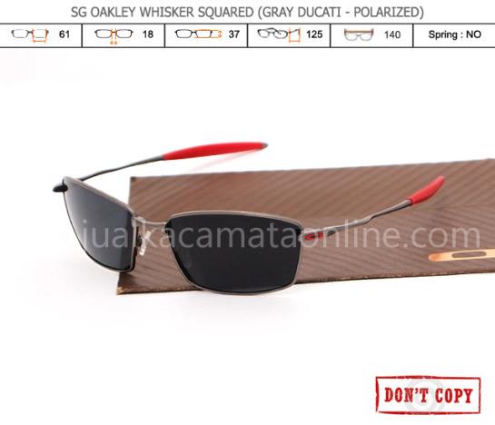 jual kacamata oakley whisker squared grey ducati