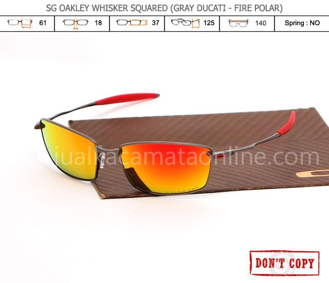 jual kacamata oakley whisker squared grey ducati fire