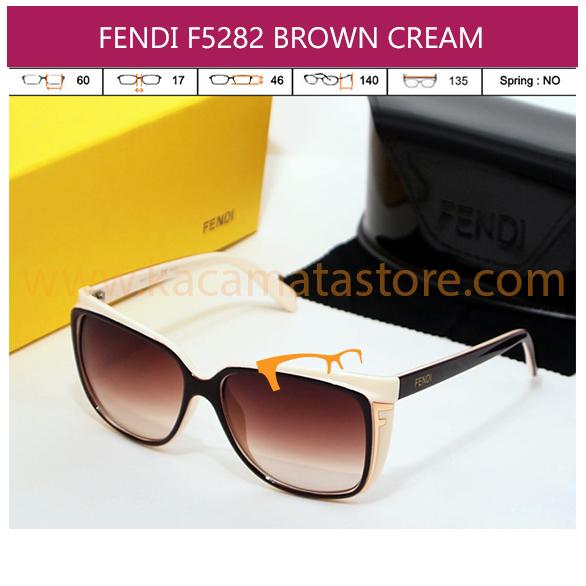 FENDI F5282 BROWN CREAM