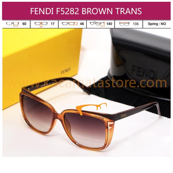 FENDI F5282 BROWN TRANS