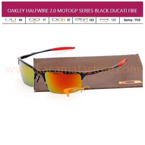 OAKLEY HALFWIRE 2.0 MOTOGP BLACK DUCATI FIRE
