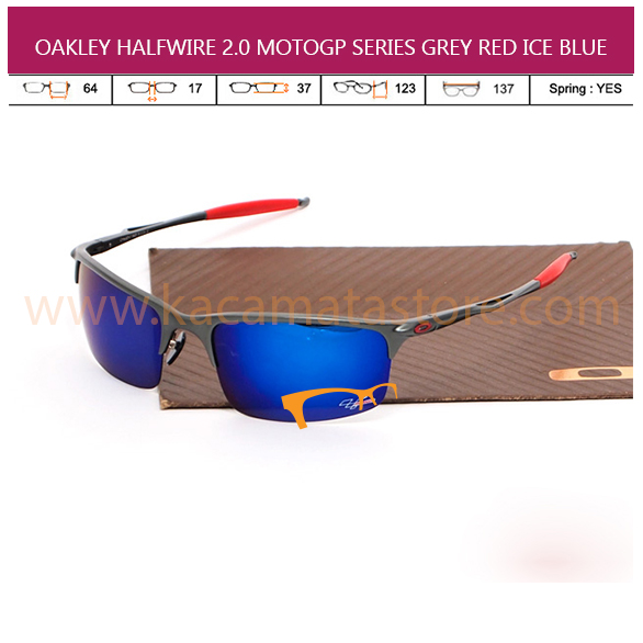 OAKLEY HALFWIRE 2.0 MOTOGP GREY RED ICE BLUE
