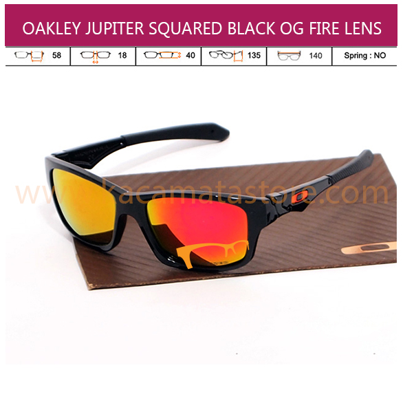OAKLEY JUPITER SQUARED BLACK OG FIRE LENS