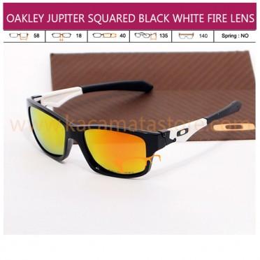 OAKLEY JUPITER SQUARED BLACK WHITE FIRE LENS