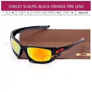 OAKLEY SCALPEL BLACK ORANGE FIRE LENS