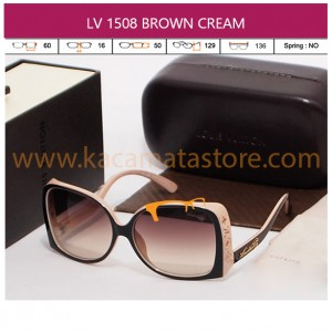 JUAL KACAMATA LV 1508 BROWN CREAM