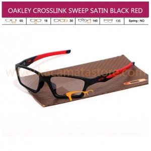 OAKLEY CROSSLINK SWEEP SATIN BLACK RED