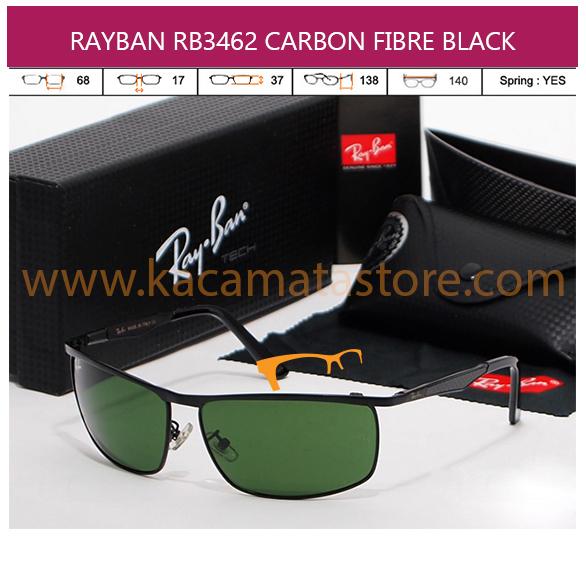JUAL KACAMATA RAYBAN RB3462 CARBON FIBRE BLACK