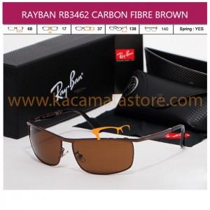 JUAL KACAMATA RAYBAN RB3462 CARBON FIBRE BROWN