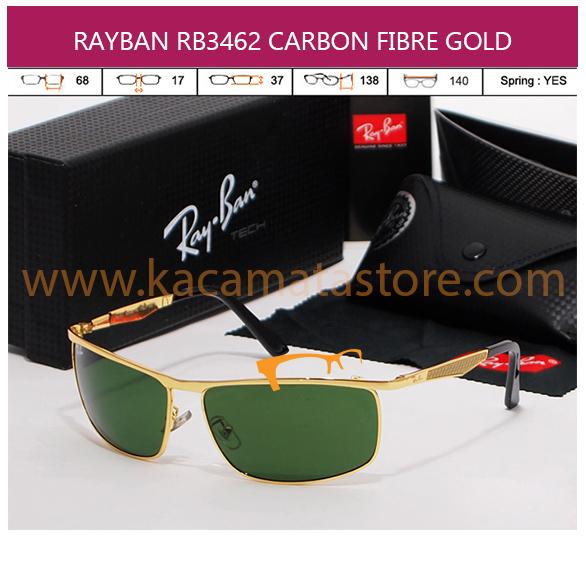 JUAL KACAMATA RAYBAN RB3462 CARBON FIBRE GOLD