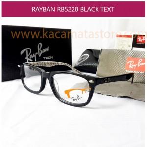 JUAL KACAMATA RAYBAN RB 5228 BLACK TEXT