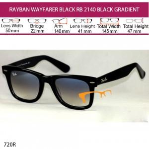 JUAL KACAMATA RAYBAN WAYFARER RB 2140 BLACK GRADIENT
