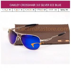 MODEL KACAMATA TERBARU JUAL KACAMATA ONLINE OAKLEY CROSSHAIR 3.0 SILVER ICE BLUE