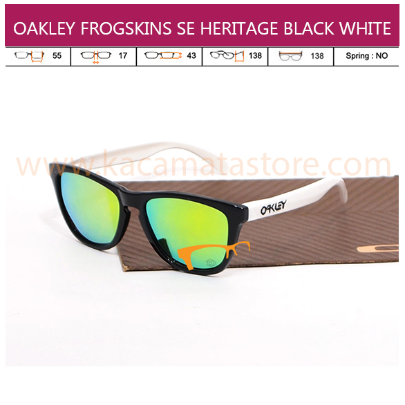 Oakley Frogskins Black And White