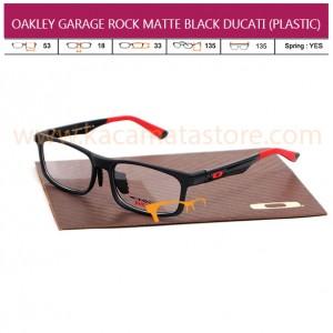 JUAL KACAMATA ONLINE JUAL KACAMATA BACA OAKLEY GARAGE ROCK MATTE BLACK DUCATI (PLASTIC)