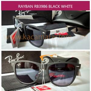 MODEL KACAMATA TERBARU JUAL KACAMATA MURAH RAYBAN RB3986 BLACK WHITE