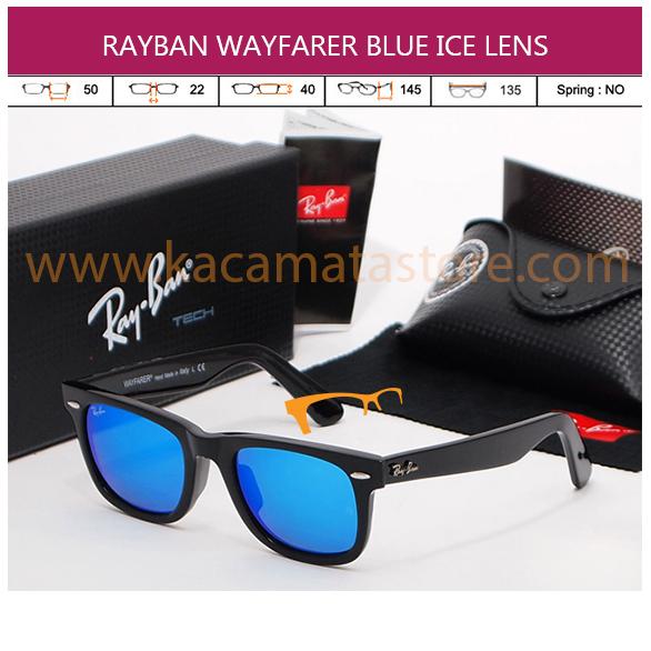 JUAL KACAMATA RAYBAN WAYFARER BLUE ICE LENS