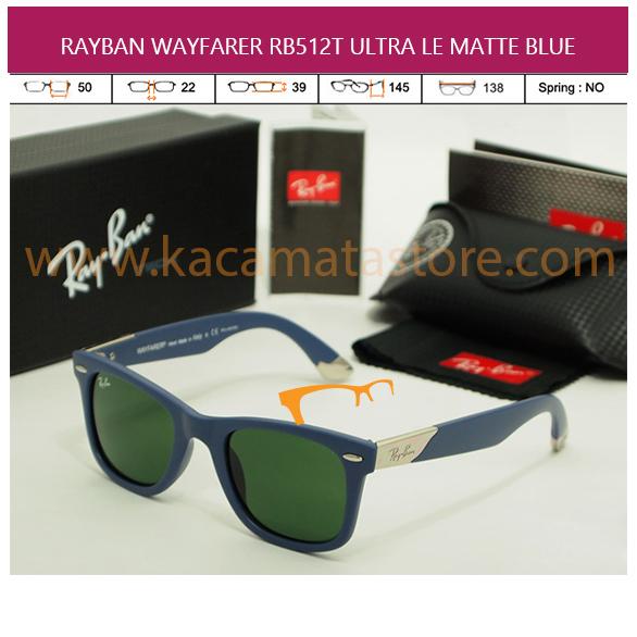 MODEL KACAMATA TERBARU JUAL KACAMATA MURAH RAYBAN WAYFARER RB512T ULTRA LE MATTE BLUE