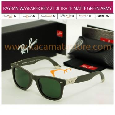 TREND KACAMATA TERBARU JUAL KACAMATA ONLINE RAYBAN WAYFARER RB512T ULTRA LE MATTE GREEN ARMY