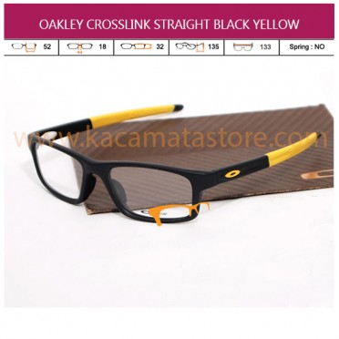 FRAME KACAMATA BACA TERBARU OAKLEY CROSSLINK STRAIGHT BLACK YELLOW