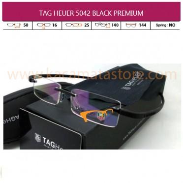 MODEL KACAMATA TERBARU JUAL KACAMATA ONLINE TAG HEUER 5042 BLACK PREMIUM
