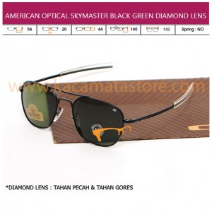 JUAL KACAMATA ONLINE AMERICAN OPTICAL SKYMASTER BLACK GREEN DIAMOND LENS