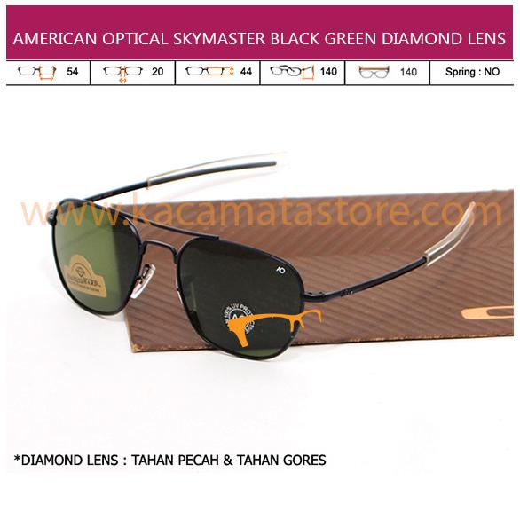 JUAL KACAMATA ONLINE AMERICAN OPTICAL SKYMASTER BLACK GREEN DIAMOND LENS