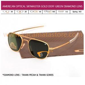 JUAL KACAMATA ONLINE AMERICAN OPTICAL SKYMASTER GOLD DOFF GREEN DIAMOND LENS