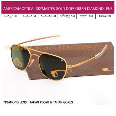 JUAL KACAMATA ONLINE AMERICAN OPTICAL SKYMASTER GOLD DOFF GREEN DIAMOND LENS