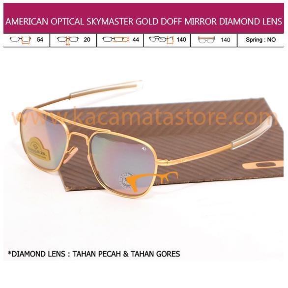 JUAL KACAMATA ONLINE AMERICAN OPTICAL SKYMASTER GOLD DOFF MIRROR DIAMOND LENS