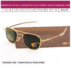 AMERICAN OPTICAL SKYMASTER GOLD SHINNY GREEN DIAMOND LENS